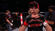 Hometown hero Lucas Martins drops two weight classes to compete at bantamweight and still needs only 70 seconds to finish his foe - hear from him after the huge win.