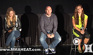 Women's bantamweight champion Ronda Rousey, Miesha Tate and UFC President Dana White are joined by select members of the media for a Q&A session before the advanced screening of The Ultimate Fighter.