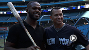 UFC light heavyweight champion Jon Jones sets aside his MMA gloves to try his hand at baseball with advice from stars like A-Rod and Jose Bautista.