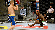 Chris Holdsworth put Chris Beal on his heels with commanding straight right-hand blows, then used a guillotine choke to finish the striker in the first round of their TUF 18 bout.