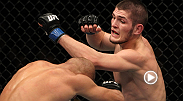 Khabib Nurmagomedov, undefeated in his MMA career, has won four-straight UFC bouts, including this impressive submission of Kamal Shalorus in his debut at UFC on FX 1.