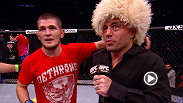 Check out the highlights from Khabib Nurmagomedov's unanimous decision over Pay Healy and hear the Russian make his plea to Dana White and the UFC for a title fight.