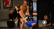 Experienced boxer Jessica Rakoczy made the mistake of falling into Roxanne Modafferi's guard but used a powerful slam to daze the jiu-jitsu master before finishing her with punches.