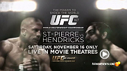 NCM Fathom Events and the UFC are celebrating the organization's 20th Anniversary with UFC 167: ST-PIERRE vs HENDRICKS broadcast LIVE to select movie theaters nationwide on Saturday, November 16. Tickets on sale now at FathomEvents.com.