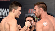 Demian Maia and Jake Shields, two former middleweights, both make the 170-pound limit and square off in Barueri before their main event tomorrow night.