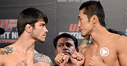 Welterweights Erick Silva and Dong Hyun Kim face off in advance of their division-defining showdown in Barueri.