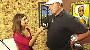 MLB legend and Houston's hometown hero Roger Clemens visits the UFC 166 open workouts and tells reporter Megan Olivi why he loves the UFC.