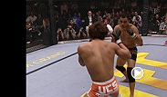 "An upstart BJ ""The Prodigy"" Penn faced icon Caol Uno at UFC 34. Uno greeted Penn with a flying knee, but while the crowd was still ooohing, Penn landed a short left that buckled Uno."