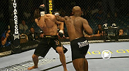 With Yves Edwards on Josh Thomson's back pushing him forward, each man was clearly setting up an attack in their UFC 49 bout. As Thomson unleashed an explosive spinning backfist, Edwards uncorked a flying head kick -- only one of them connected.