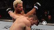 Josh Koscheck landed a plethora of powerful right hands before finishing UFC veteran Matt Hughes with hammerfists in Hughes' last appearance in the Octagon.