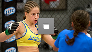 Photos from the 11th episode of The Ultimate Fighter season 18, including Julianna Pena's semifinal bout with Sarah Moras.