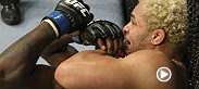 After enduring some early eye pokes, Josh Koscheck exacts revenge by finishing his fight against massive welterweight Anthony Johnson.