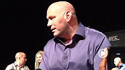 UFC president Dana White answers media members' burning questions after the UFC 167 press conference. Hear his bombshell about Jones vs. Teixeira, plus his take on Rory vs. GSP, Pettis' recovery, Brock, superfights and more.