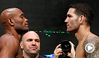 UFC champions Chris Weidman and Ronda Rousey will look to solidify their spots at the top of the UFC mountain when they rematch Anderson Silva and Miesha Tate at UFC 168.