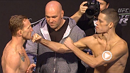 Watch the official weigh-in for The Ultimate Fighter 18 Finale, from the Mandalay Bay Events Center in La