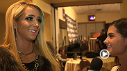 YouTube personality Jenna Marbles tries to put her live UFC experience into words after watching the TUF 18 Finale at Mandalay Bay Events Center.