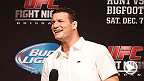 UFC middleweight contender and troublemaker Michael Bisping takes questions from UFC Fight Club members at UFC Brisbane.