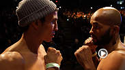Demetrious Johnson and Joseph Benavidez square off before their title fight Saturday. Plus, Urijah Faber and Michael McDonald hit the scales in anticipation of their big bantamweight matchup, which could decide who gets the next crack at the belt.