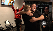 Urijah Faber's Alpha Male teammates T.J. Dillashaw, Chad Mendes, and Danny Castillo react to his victory over Michael McDonald.