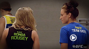 Miesha Tate and Joe Rogan talk about the emotional buildup between Tate and champion Ronda Rousey. Plus, hear why Tate is glad to have such a strong rival.