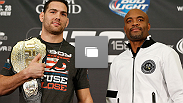 UFC 168 pre-fight press conference at the MGM Grand Hotel/Casino on December 26, 2013 in L