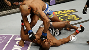 UFC middleweight and former Olympic wrestler Yoel Romero secures his first win in the Octagon with this flying knee finish of Clifford Starks.