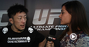 Megan Olivi interviews the night's big winners backstage in Singapore. Watch at UFC.TV/FightPass