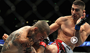 Ricardo Lamas secured his second win in the UFC with this second-round, arm triangle submission of Cub Swanson.