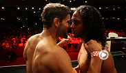 UFC lightweights Benson Henderson and Josh Thomson weigh in before their highly-anticipated bout with possible title implications on the line.