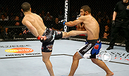 "John Makdessi had scored impressive victories over Sam Stout and Daron Cruickshank before his encounter with Brazilian Renee Forte. After an early ""feeling out"" period, Makdessi rocked Forte with a left, and finished the fight for his third straight win."