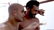 During their intense training camp, bantamweight champ Renan Barao and featherweight champ Jose Aldo were paid a visit by two-division UFC champion, BJ Penn. Hear how Penn has been helping the two champs prepare for their upcoming title bouts at UFC 169.
