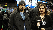 No. 2 featherweight contender Ricardo Lamas talks with Megan Olivi about his big fight on Saturday and his experience during Super Bowl Media Day.