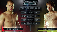Hard-hitting welterweight Chad Laprise takes on gritty Aussie Chris Indich in episode three of TUF Nations. An Indich win would help Team Australia regain control of the fight selection. However, a win by Laprise would push Team Canada to 3-0.