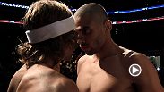 Champion Renan Barao and challenger Urijah Faber face off the day before their bantamweight title bout.