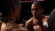 Featherweight champion Jose Aldo and No. 2 contender Ricardo Lamas weigh-in before their title fight at UFC 169.