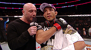 Jose Aldo talks to Joe Rogan after his successful and technical title defense against Ricardo Lamas.