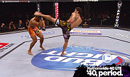 Lyoto Machida makes a statement in his first middleweight bout with a devastating head-kick knockout.