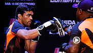 Paula Sack takes you backstage at the Fight Night Jaragua Open Workout in Brazil. Hear from Headliners Lyoto Machida and Gegard Mousasi, plus, hometown fighters Erick Silva and Ronaldo Souza, and middleweight Francis Carmont.
