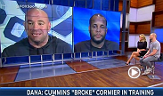 Daniel Cormier and UFC 170 challenger Patrick Cummins get into a heated exchange on FOX Sports Live.