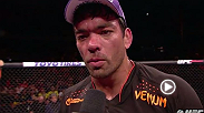 Lyoto Machida, winner of two straight in the middleweight division, talks to