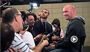 UFC president Dana White sits with the media following the UFC 170 pre-fight press conference to discuss this weekend's big event. Topics include, Cormier's matchup with former training partner Patrick Cummins, Sara McMann's biceps, and much more!