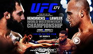 The vacant welterweight title is on the line when Johny 'Big Rig' Hendricks takes on mma veteran Robbie Lawler at UFC 171 in Dallas, TX.