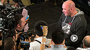 UFC president Dana White chats with the media following the UFC 170 post-fight press conference. Topics include: Cyborg, injury updates, and Cormier's place in the light heavyweight division.