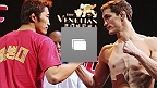 Fotos del pesaje de UFC Fight Night Macao: Kim vs Hathaway