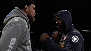 Special UFC correpondent goes behind-the-scenes as fighters step into a simulated Octagon for an open workout for the media. Hear from fighters before their bouts and check out some of their moves.