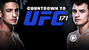 Go inside the training camps of the UFC's biggest stars on Countdown to UFC 171. First-ever Ultimate Fighter winner Diego Sanchez looks to halt the momentum of TUF 15 standout Myles Jury, who brings a 13-0 record into their scrap.
