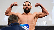 FREE MMA VIDEO:  An ecstatic Johny Hendricks makes weight on his third attempt after coming in a pound and a half over on his first try hours before.