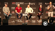 UFC hall of famer Forrest Griffin, welterweight Conor McGregor, Ross Pearson & TUF 20 contestant Joanne Calderwood answer questions from fans at the Fight Night London Q and A.