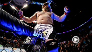 Roy Nelson, winner of six straight by knockout, puts heavyweight Cheick Kongo out cold with an overhand right, capping off a string of three consecutive first-round finishes. Big Country takes the Octagon next at Fight Night Abu Dhabi.