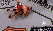 Minotauro Nogueira sweeps Tim Sylvia and locks in a guillotine to become the interim heavyweight champion at UFC 81.